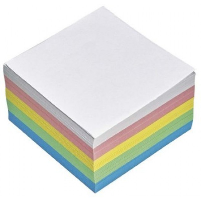 Cub din hartie color, 9 x 9cm, 80 g/mp, 500 file/set