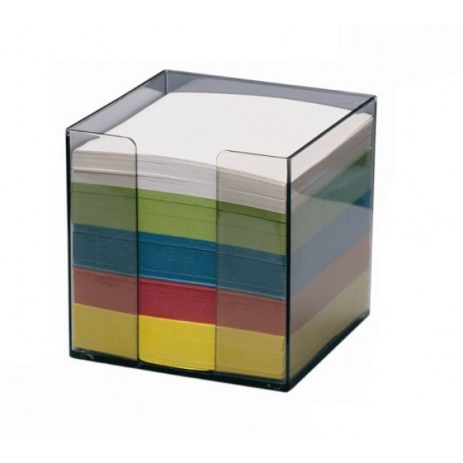 Cub din hartie color, cu suport, 9 x 9cm, 80 g/mp, 750 file/set